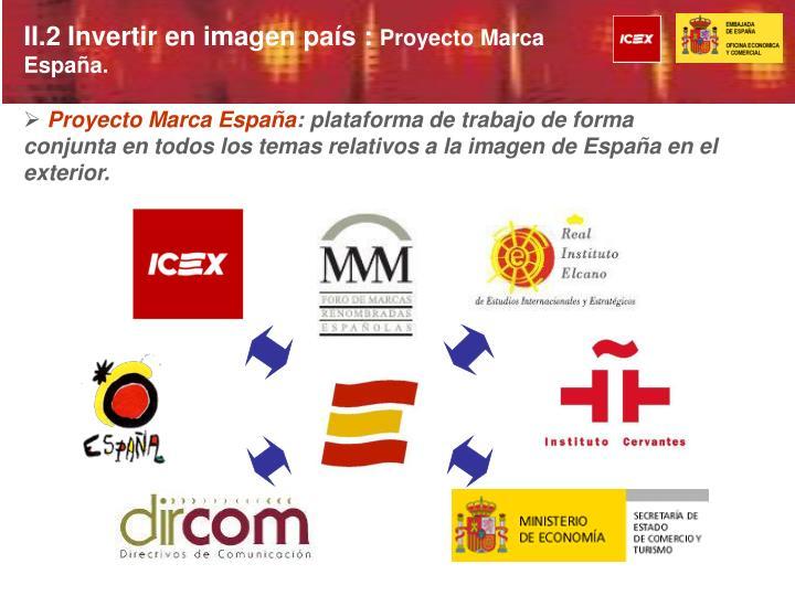 II.2 Invertir en imagen país :