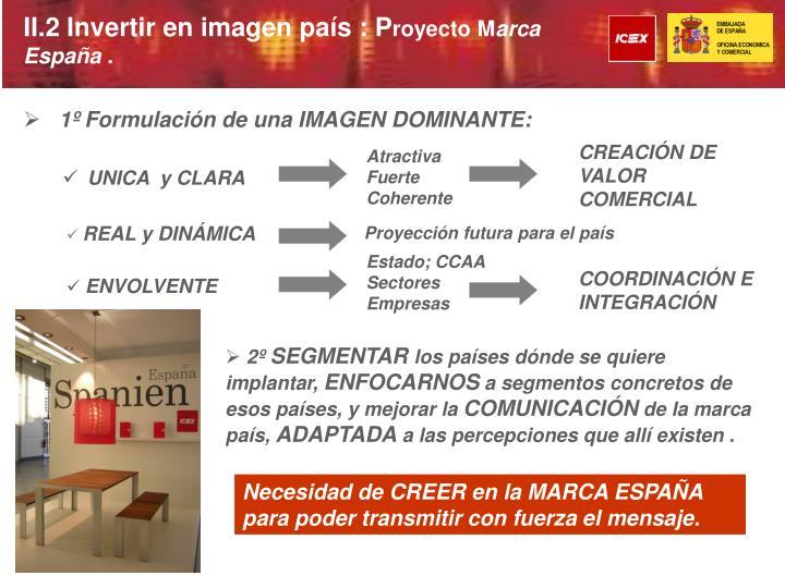 II.2 Invertir en imagen país : P