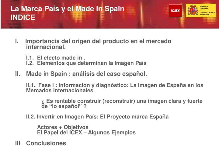 La Marca País y el Made In Spain