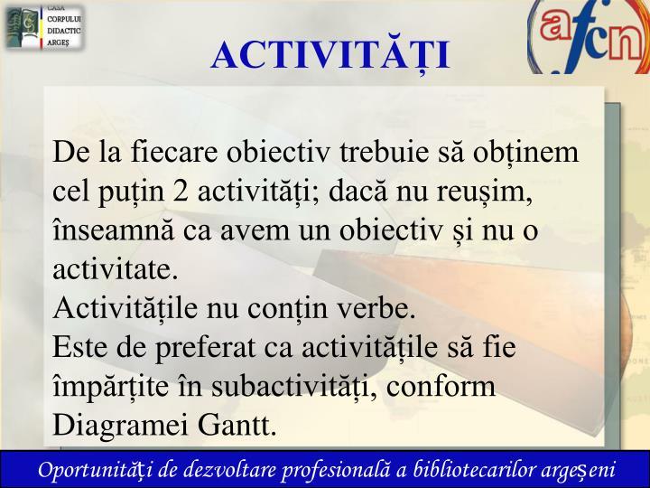 ACTIVITĂȚI