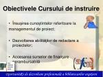 obiectivele cursului de instruire