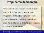 propunerea de finan are