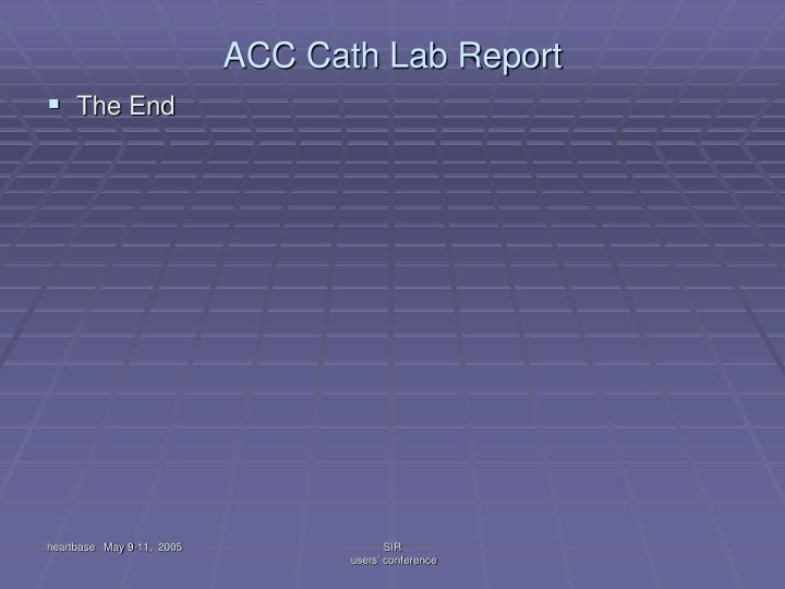 ACC Cath Lab Report