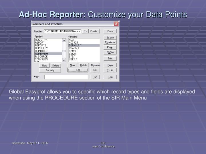 Ad-Hoc Reporter: