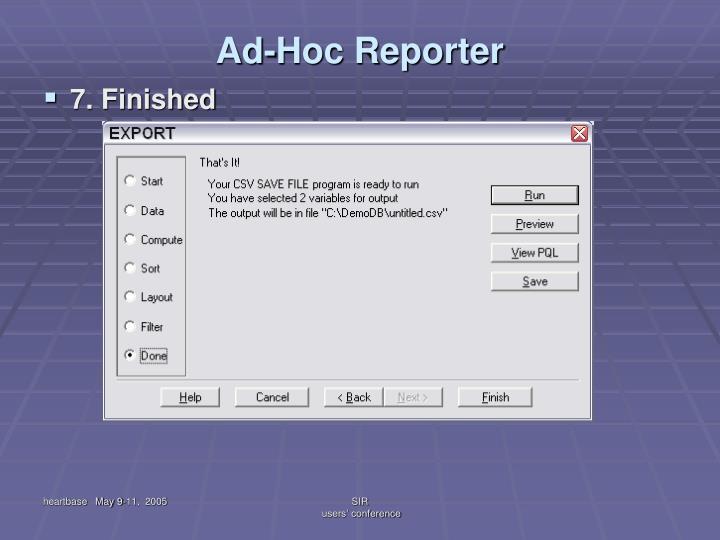 Ad-Hoc Reporter