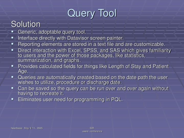 Query Tool