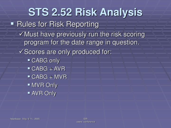 STS 2.52 Risk Analysis