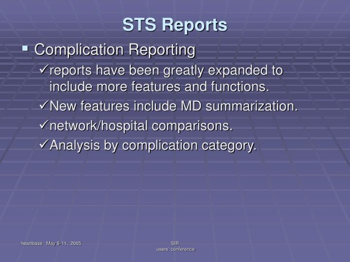STS Reports