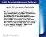 audit documentation and evidence1