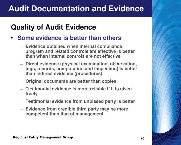 Audit Documentation and Evidence