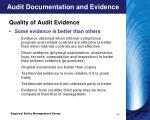 audit documentation and evidence11