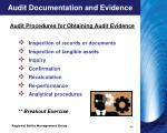 audit documentation and evidence14