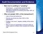 audit documentation and evidence15