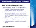 audit documentation and evidence3