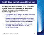 audit documentation and evidence4