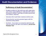 audit documentation and evidence7