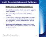 audit documentation and evidence8