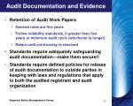 audit documentation and evidence9