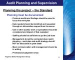 audit planning and supervision1