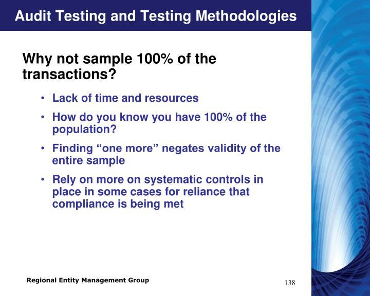 Audit Testing and Testing Methodologies