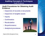 auditing concepts techniques audit evidence1