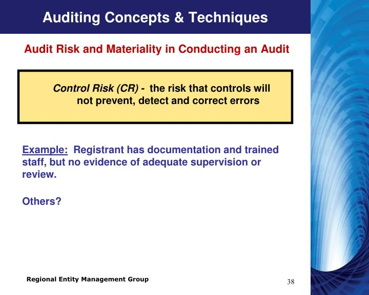 Auditing Concepts & Techniques