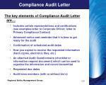 compliance audit letter