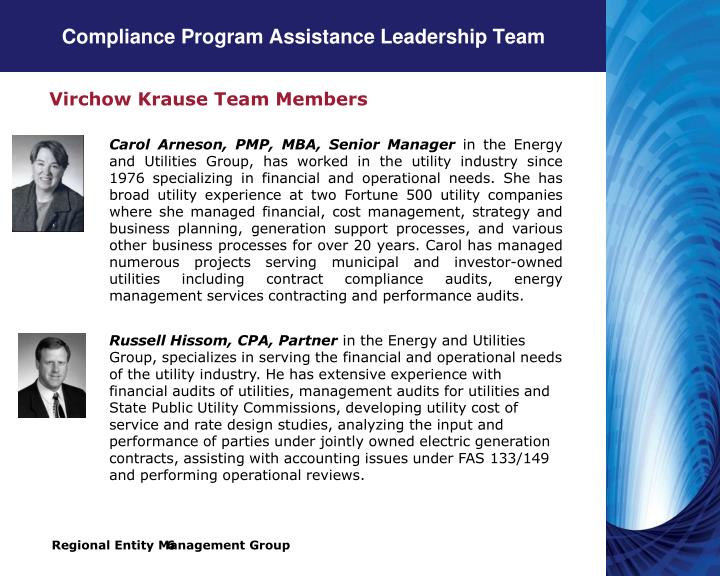 Compliance Program Assistance Leadership Team