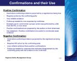 confirmations and their use