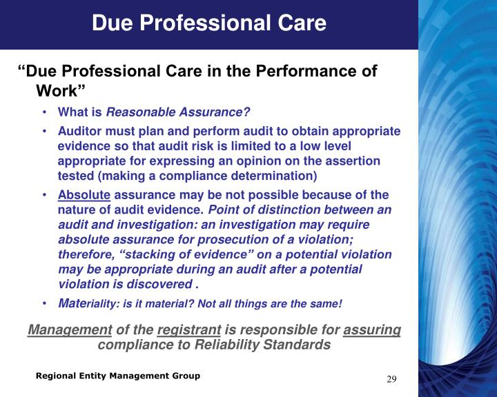 Due Professional Care