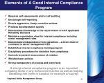 elements of a good internal compliance program