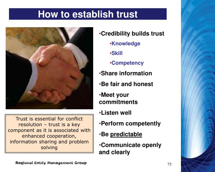 How to establish trust