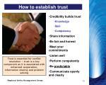 how to establish trust