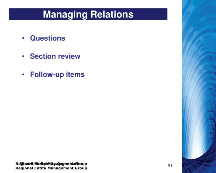 Managing Relations