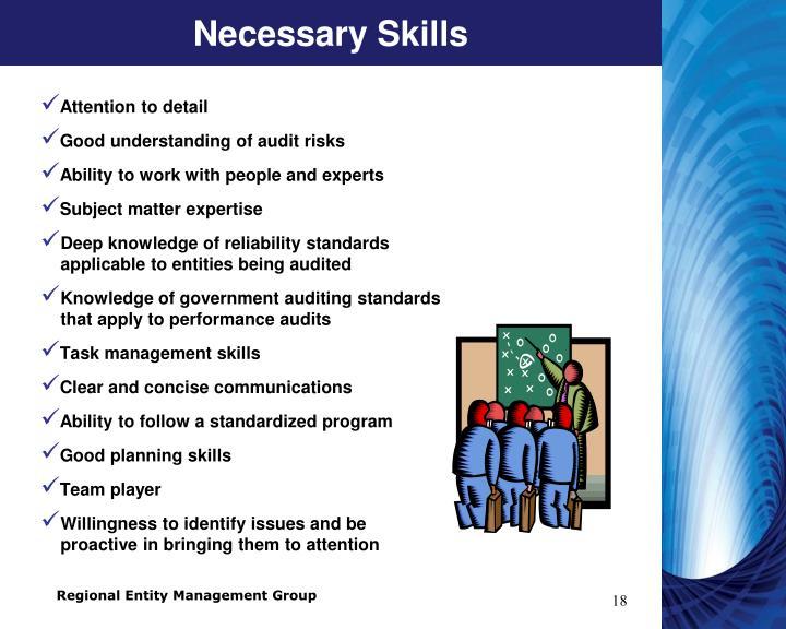 Necessary Skills