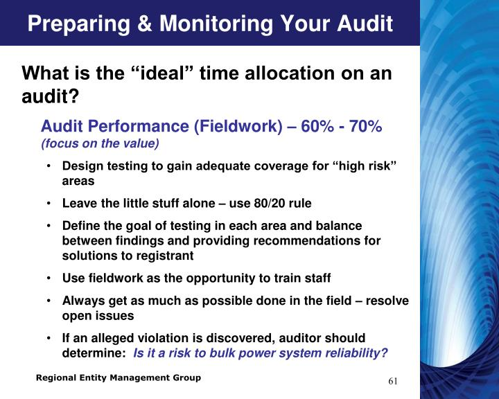 Preparing & Monitoring Your Audit