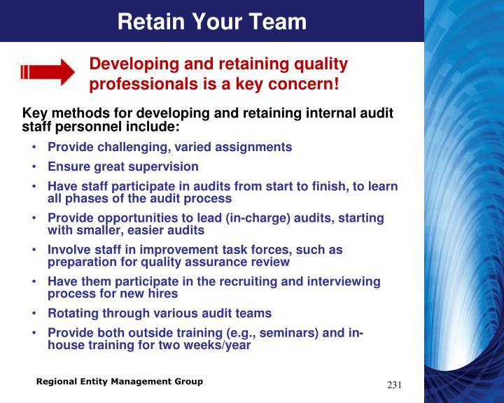 Retain Your Team