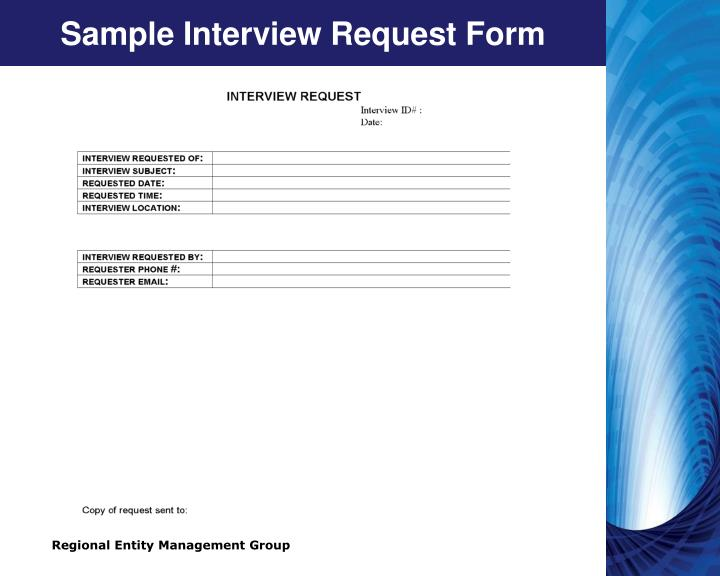 Sample Interview Request Form