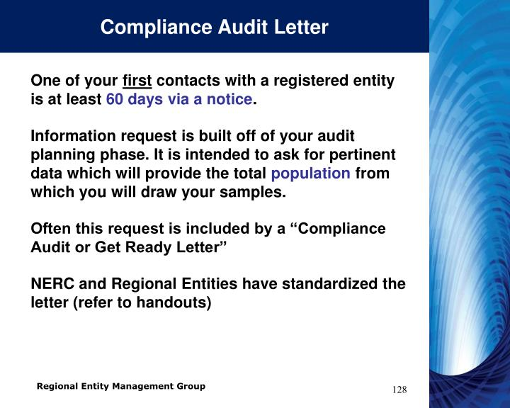 Compliance Audit Letter