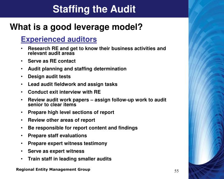 Staffing the Audit
