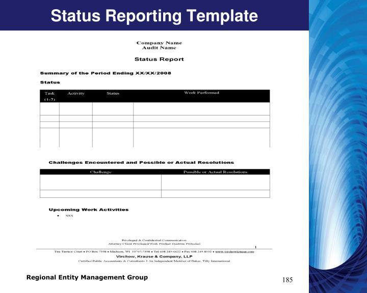 Status Reporting Template