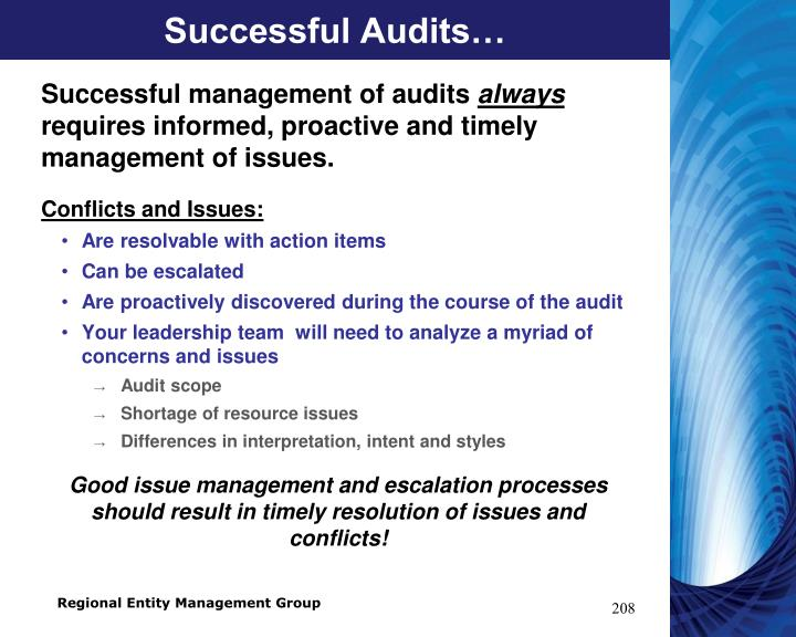 Successful Audits…