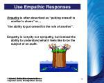 use empathic responses