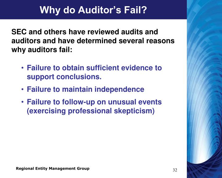 Why do Auditor's Fail?