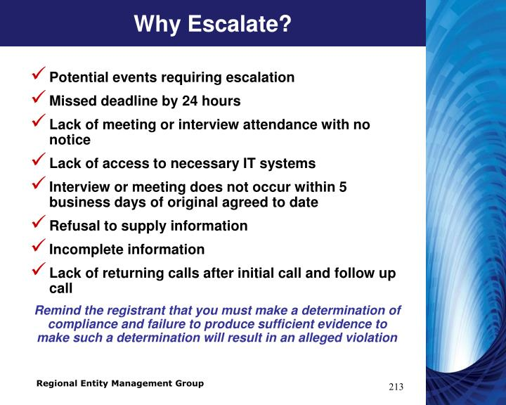 Why Escalate?