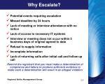 why escalate