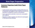 work paper preparation2