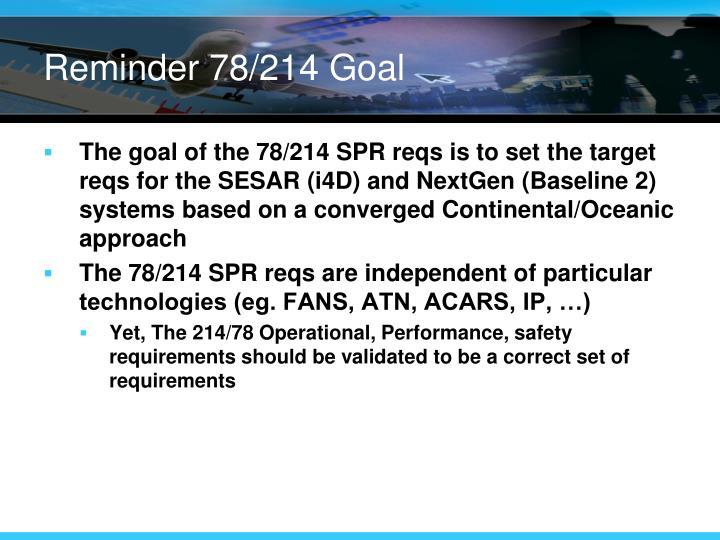 Reminder 78/214 Goal