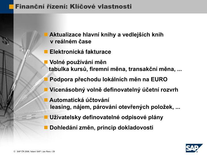 Finanční řízení: Klíčové vlastnosti