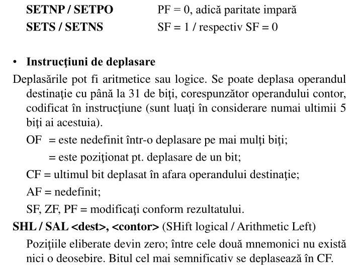 SETNP / SETPO
